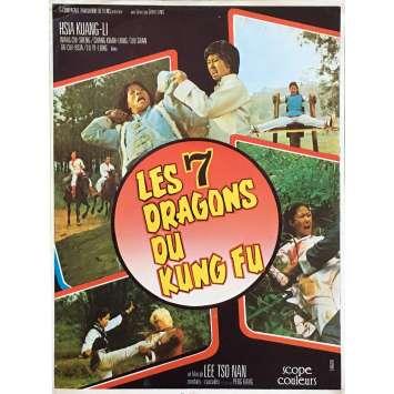 LES 7 DRAGONS DU KUNG FU Synopsis - 21x30 cm. - 1980 - Kang Peng, Tso Nam Lee