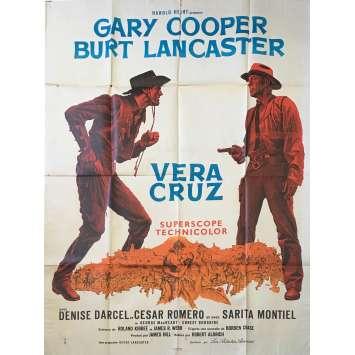 VERA CRUZ Affiche de film C5 - 120x160 cm. - 1954 - Gary Cooper, Robert Aldrich