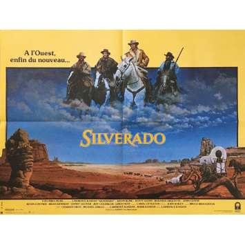 SILVERADO Affiche de film - 60x80 cm. - 1985 - Kevin Costner, Lawrence Kasdan