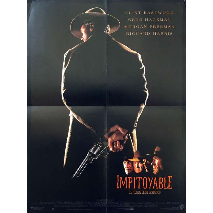 UNFORGIVEN Original Movie Poster - 15x21 in. - 1992 - Clint Eastwood, Gene Hackman