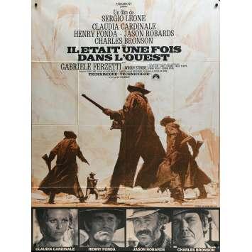 IL ETAIT UNE FOIS DANS L'OUEST Affiche de film - 120x160 cm. - 1968 - Henry Fonda, Sergio Leone