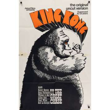 KING KONG 1sh movie poster -1968 - double-bill, Great Chase