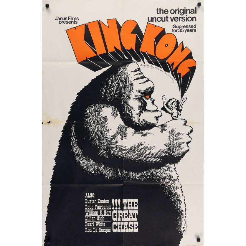 KING KONG Affiche Américaine - 1968 - Fay Wray, Janus