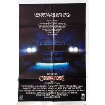 CHRISTINE Affiche de film US -1983 - John Carpenter, Stephen King