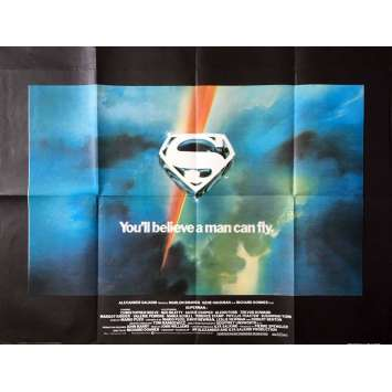 SUPERMAN Affiche de film Anglaise - 1978 - Christopher Reeves, Richard Donner