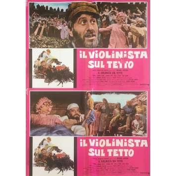 UN VIOLON SUR LE TOIT Photobustas x12 - 46x64 cm. - 1971 - Topol, Norman Jewison