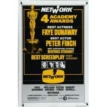 NETWORK Affiche de film - 69x102 cm. - 1976 - Faye Dunaway, Sydney Lumet