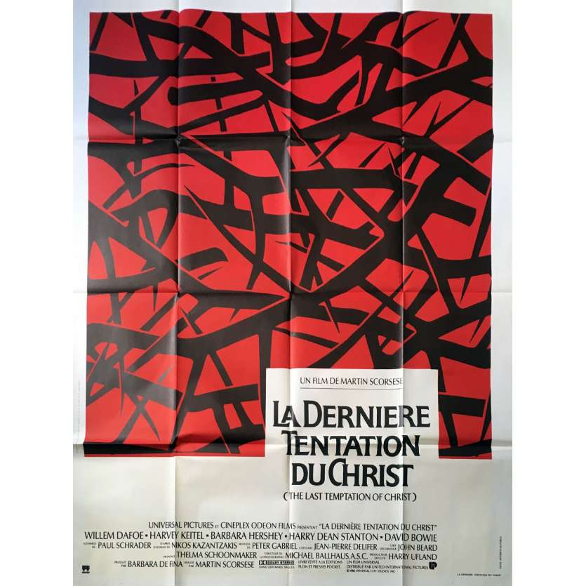 THE LAST TEMPTATION OF CHRIST Original Movie Poster - 47x63 in. - 1988 - Martin Scorsese, Willem Dafoe