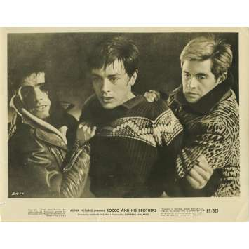 ROCCO ET SES FRERES Photo de presse N01 - 20x25 cm. - 1960 - Alain Delon, Luchino Visconti