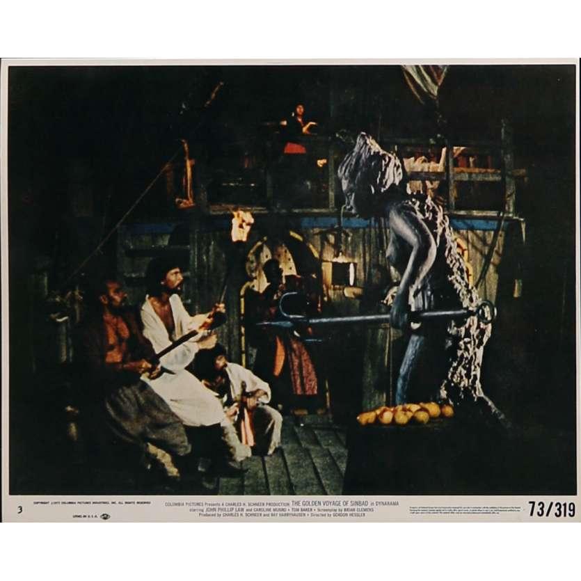 LE VOYAGE FANTASTIQUE DE SINBAD Photo de film N03 - 20x25 cm. - 1973 - Caroline Munro, Ray Harryhausen
