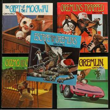 GREMLINS Lot de Disques 45T - 20x25 cm. - 1984 - Zach Galligan, Joe Dante