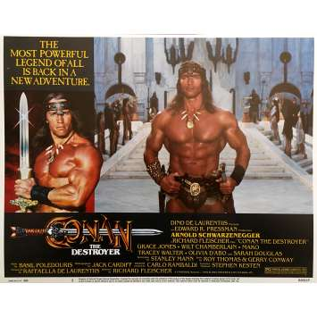 CONAN THE DESTROYER Original Lobby Card N01 - 11x14 in. - 1984 - Richard Fleisher, Arnold Schwarzenegger