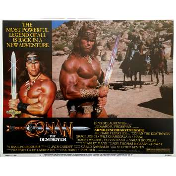 CONAN LE DESTRUCTEUR Photo de film N02 - 28x36 cm. - 1984 - Arnold Schwarzenegger, Richard Fleisher