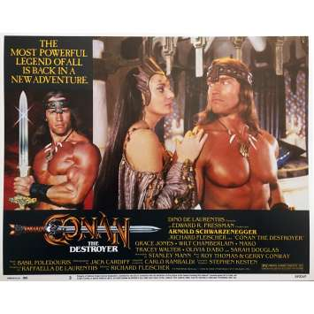 CONAN LE DESTRUCTEUR Photo de film N03 - 28x36 cm. - 1984 - Arnold Schwarzenegger, Richard Fleisher