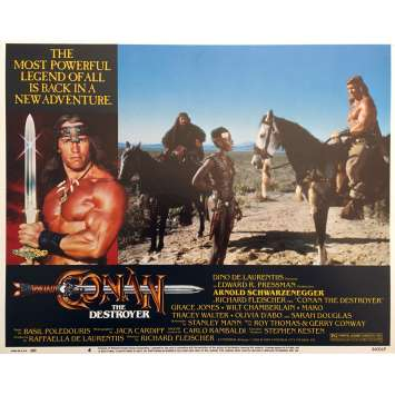 CONAN THE DESTROYER Original Lobby Card N04 - 11x14 in. - 1984 - Richard Fleisher, Arnold Schwarzenegger