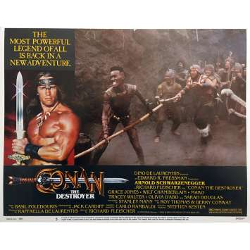 CONAN THE DESTROYER Original Lobby Card N05 - 11x14 in. - 1984 - Richard Fleisher, Arnold Schwarzenegger