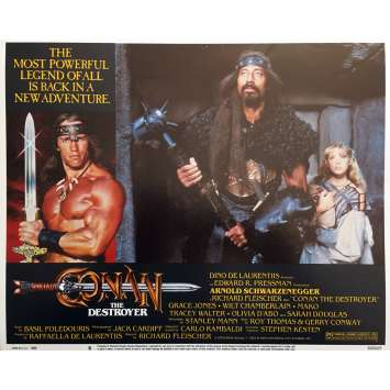 CONAN LE DESTRUCTEUR Photo de film N08 - 28x36 cm. - 1984 - Arnold Schwarzenegger, Richard Fleisher