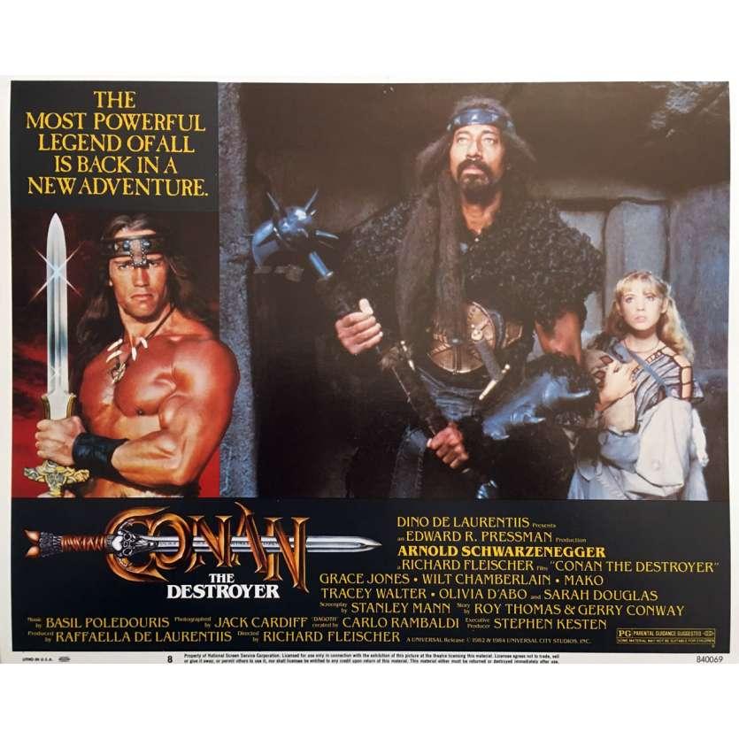 CONAN THE DESTROYER Original Lobby Card N08 - 11x14 in. - 1984 - Richard Fleisher, Arnold Schwarzenegger