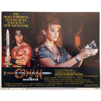 CONAN THE DESTROYER Original Lobby Card N07 - 11x14 in. - 1984 - Richard Fleisher, Arnold Schwarzenegger