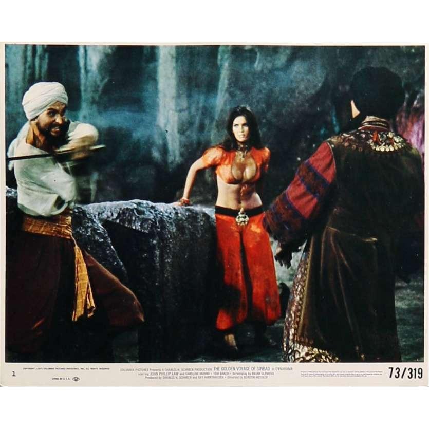 THE GOLDEN VOYAGE OF SINBAD Original Lobby Card N01 - 8x10 in. - 1973 - Ray Harryhausen, Caroline Munro