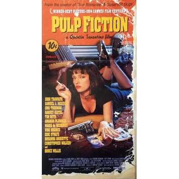 PULP FICTION Affiche de film Australienne - 33x78 cm. - 1994 - Uma Thurman, Quentin Tarantino