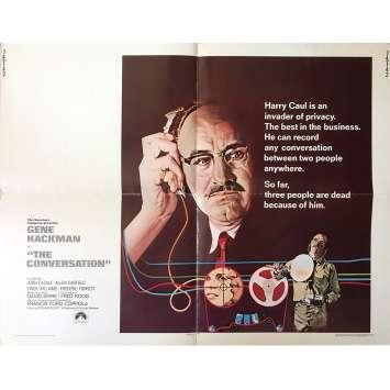 CONVERSATIONS SECRETES Affiche de film US - 55x71 cm. - 1974 - Gene Hackman, Francis Ford Coppola