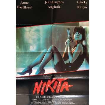 NIKITA Affiche de film - 69x102 cm. - 1990 - Anne Parillaud, Luc Besson