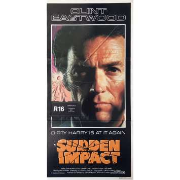 SUDDEN IMPACT Affiche de film - 33x78 cm. - 1983 - Sondra Locke, Clint Eastwood