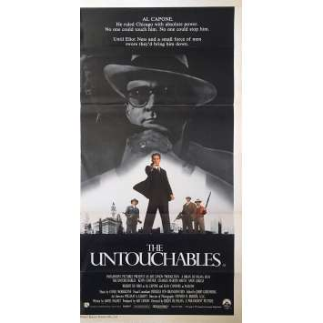 LES INCORRUPTIBLES Affiche de film - 33x78 cm. - 1987 - Kevin Costner, Brian de Palma