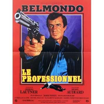 LE PROFESSIONNEL Affiche de film - 40x60 cm. - R1990 - Jean-Paul Belmondo, Georges Lautner