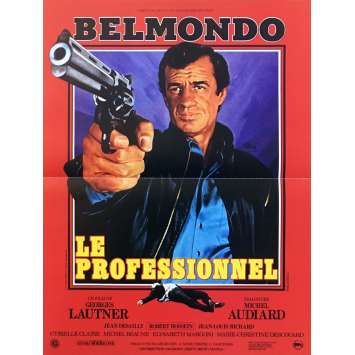 THE PROFESSIONAL Original Movie Poster - 15x21 in. - R1990 - Georges Lautner, Jean-Paul Belmondo