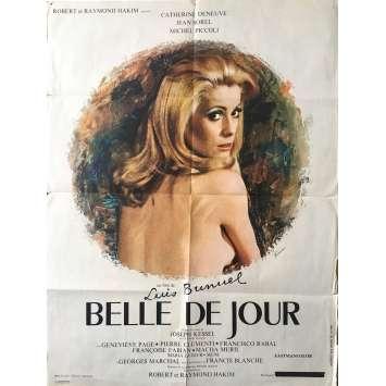 BELLE DE JOUR Affiche de film - 60x80 cm. - 1967 - Catherine Deneuve, Luis Bunuel