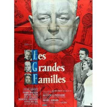 LES GRANDES FAMILLES Affiche de film - 120x160 cm. - 1958 - Jean Gabin, Denys de La Patellière