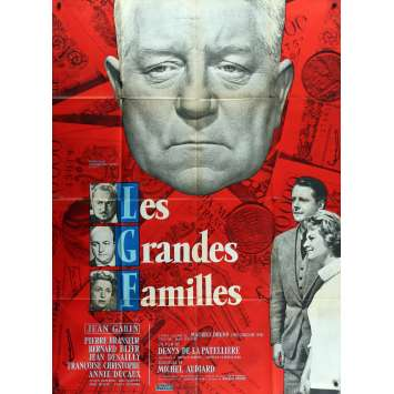THE POSSESSORS Original Movie Poster - 47x63 in. - 1958 - Denys de La Patellière, Jean Gabin
