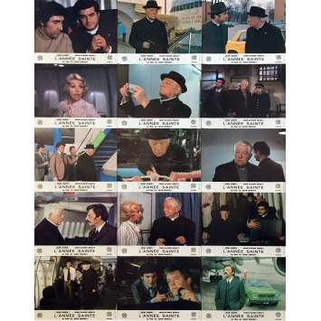 HOLY YEAR Original Lobby Cards x15 - 9x12 in. - 1976 - Jean Girault, Jean Gabin