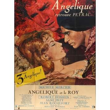 ANGELIQUE ET LE ROY Affiche de film - 120x160 cm. - 1966 - Michele Mercier, Bernard Borderie