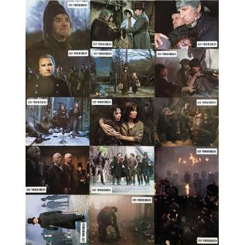 LES MISERABLES Original Lobby Cards x15 - 9x12 in. - 1982 - Robert Hossein, Lino Ventura