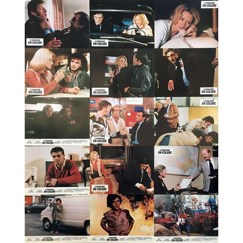 L'HOMME EN COLERE Original Lobby Cards x15 - 9x12 in. - 1979 - Claude Pinoteau, Lino Ventura
