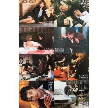 NOTRE HISTOIRE Original Lobby Cards x8 - 9x12 in. - 1984 - Bertrand Blier, Alain Delon