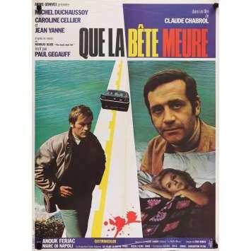 QUE LA BETE MEURE Affiche de film 60x80 - 1968 - Claude Chabrol, Jean Yanne