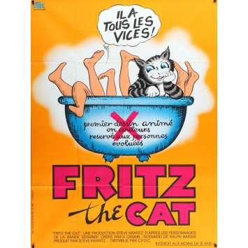 FRITZ THE CAT Affiche de film 120x160 - 1971 - Skip Hinnant, Ralph Bakshi