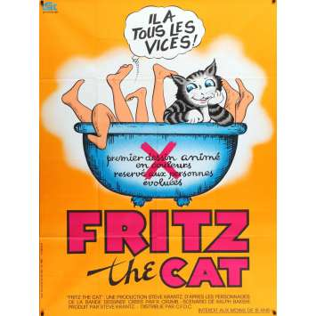 FRITZ THE CAT French Movie Poster 47x63 - 1971 - Ralph Bakshi, Skip Hinnant -