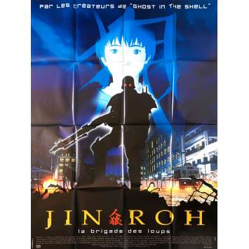 JIN-ROH Original Movie Poster - 47x63 in. - 1999 - Hiroyuki Okiura, Mamoru Oshii