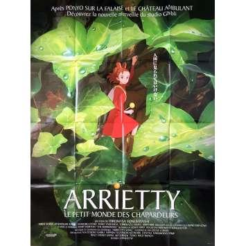 ARRIETY Affiche de film - 120x160 cm. - 2010 - Hayao Miyazaki, Studio Ghibli