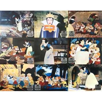 BLANCHE NEIGE ET LES 7 NAINS Photos de film x9 - jeu A - 21x30 cm. - R1980 - Walt Disney, Walt Disney