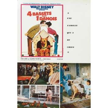 4 BASSET POUR UN DANOIS Synopsis - 18x24 cm. - 1966 - Dean Jones, Walt Disney