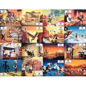 LES DALTONS EN CAVALE Photos de film x16 - Luxe - 21x30 cm. - 1983 - Roger Carel, Hanna Barbera
