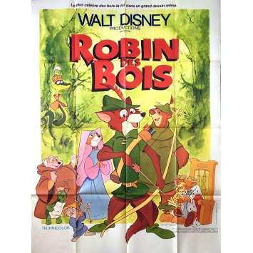 ROBIN HOOD French Movie Poster 47x63 R78 Walt Disney Classic