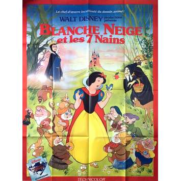 SNOW WHITE AND THE SEVEN DWARFS Movie Poster 47x63 in. - R1970 - Walt Disney, Walt Disney