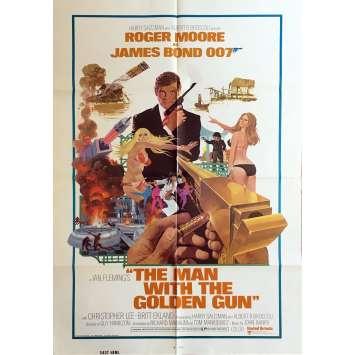 L'HOMME AU PISTOLET D'OR Affiche de film US - 69x102 cm. - 1977 - Roger Moore, James Bond